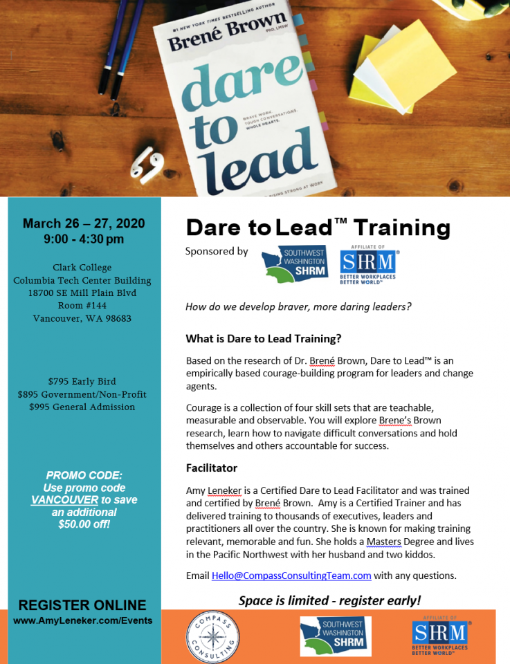 Dare to Lead flyer
